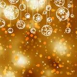 Elegant gold christmas background. EPS 8 Royalty Free Stock Photos