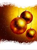 Elegant gold Christmas Card. EPS 8 Royalty Free Stock Photo