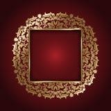 Elegant gold frame Royalty Free Stock Photo