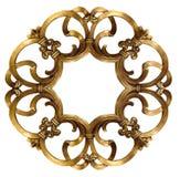 Elegant Gold Frame. Elegant gold mirror frame. Isolated royalty free stock photo