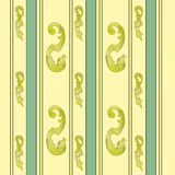 Elegant gold and green background. Floral,vector illustration Stock Photo
