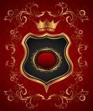 Elegant gold heraldry frame Stock Images