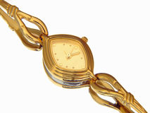 Elegant gold ladies watch Stock Photo