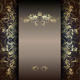 Elegant gold pattern on a dark Stock Images
