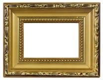 Elegant gold pictureframe macro Royalty Free Stock Images