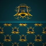 Elegant golden frame banner Royalty Free Stock Image