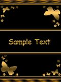 Elegant gold template Stock Photography