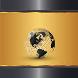 Elegant Gold World Royalty Free Stock Photos