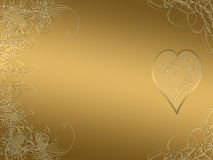 Elegant golden arabesque design Stock Photo