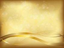 Elegant golden background Stock Images