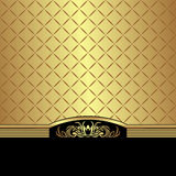 Elegant golden Background decorated the black Border Royalty Free Stock Images