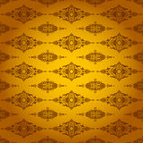 Orange background made of symmetrical pattern Stock Photo