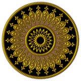 Elegant golden,black and brown ornament Stock Image