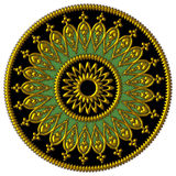 Elegant golden, black and green ornament Royalty Free Stock Photos