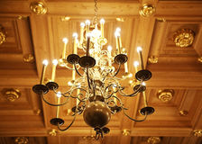 Elegant golden chandelier Royalty Free Stock Photography