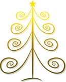 Elegant golden christmas tree Stock Images