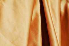 Elegant golden fabric Royalty Free Stock Images