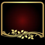 Elegant  golden floral Frame for your Information. Royalty Free Stock Photography