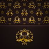 Elegant golden frame banner Royalty Free Stock Photography