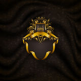 Elegant golden frame banner Stock Photo