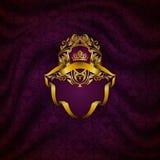 Elegant golden frame banner Royalty Free Stock Image