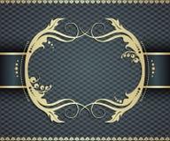 Elegant golden frame banner,  ornamental frame Royalty Free Stock Photography