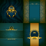 Elegant golden frame banner Stock Photos