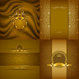 Elegant golden frame banner Stock Photo