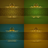 Elegant golden frame banner Royalty Free Stock Images