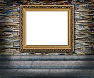 Elegant golden frame interior Royalty Free Stock Images