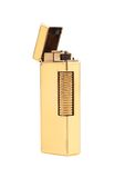 Elegant golden gas lighter. Royalty Free Stock Photography