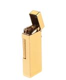Elegant golden gas lighter. Royalty Free Stock Image