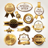 Elegant golden labels collection set Royalty Free Stock Photography