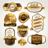 Elegant golden labels collection set Stock Photos