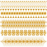 Elegant golden ornamental trim collection Stock Photography