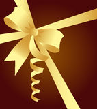 Elegant golden ribbon Stock Photos