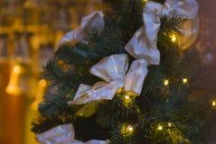 Elegant golden ribbon knot ornamentation Stock Photo