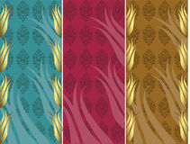 Elegant golden traditional ottoman turkish design Royalty Free Stock Images