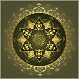 Elegant golden traditional ottoman turkish design Royalty Free Stock Photo