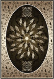 Elegant golden traditional ottoman turkish design Royalty Free Stock Photo