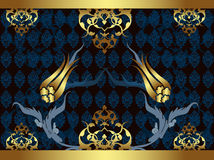 Elegant golden traditional ottoman turkish design Stock Photography