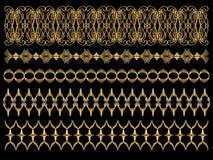 Elegant golden trims Royalty Free Stock Photos