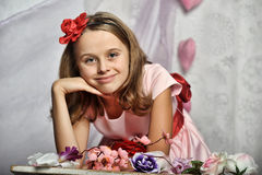 Elegant  gorgeous young girl Stock Photos