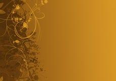 Elegant gouden abstract ontwerp als achtergrond Stock Foto