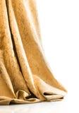 Elegant gouden damast of brokaat stock foto