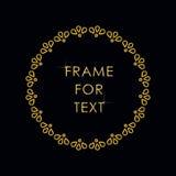 Elegant gouden kader in in overzichtsstijl Royalty-vrije Stock Afbeelding
