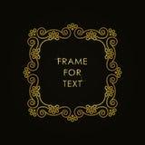 Elegant gouden kader in in overzichtsstijl Stock Foto's