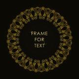 Elegant gouden kader in in overzichtsstijl Stock Afbeelding
