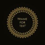 Elegant gouden kader in in overzichtsstijl Royalty-vrije Stock Foto