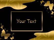 Elegant gouden malplaatje Stock Foto's